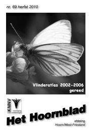 Het Hoornblad nr. 69 najaar 2010 - KNNV afd. Hoorn/West-Friesland