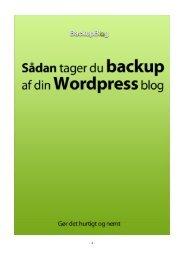 Sådan tager du backup af din Wordpress blog - BackupBlog