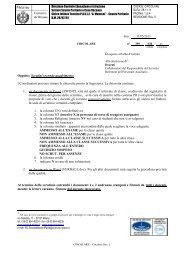 Oggetto: Scrutini secondo quadrimestre I ... - PACLE Manzoni