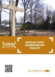 Boekje over: HeeMkerkHoF rAALTe - Rustplaatsen