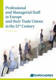 Professional and Managerial Staff in Europe and their ... - Eurocadres