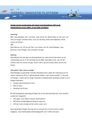 Verslag overleg VIP en KBG - Visserij Innovatie Platform