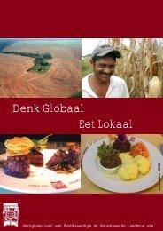 de brochure 'Denk globaal, eet lokaal' - Wervel