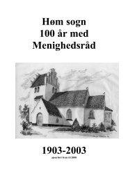 Høm sogn 100 år med Menighedsråd 1903-2003 - Høm sogne