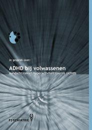 NVvP-folder: ADHD bij volwassenen (PDF bestand ... - GGZ inGeest