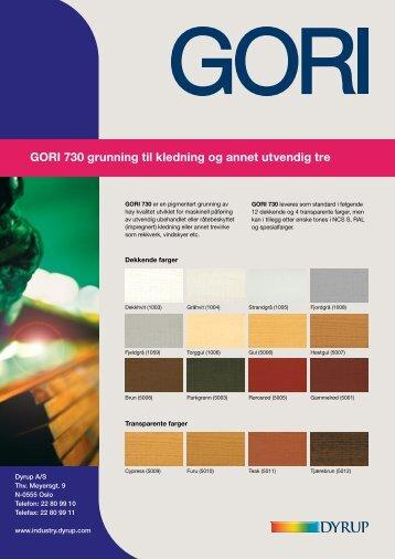 Gori 730 - Utvendig kledning av KjerneTre fra gran