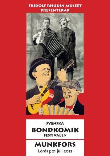 BONDKOMIK MUNKFORS - Fridolf Rhudin Museet