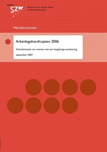 Arbeidsgehandicapten 2006 - Pagina niet gevonden
