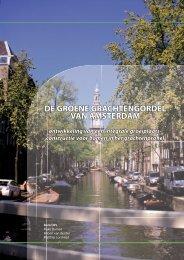 DE GROENE GRACHTENGORDEL VAN AMSTERDAM ...