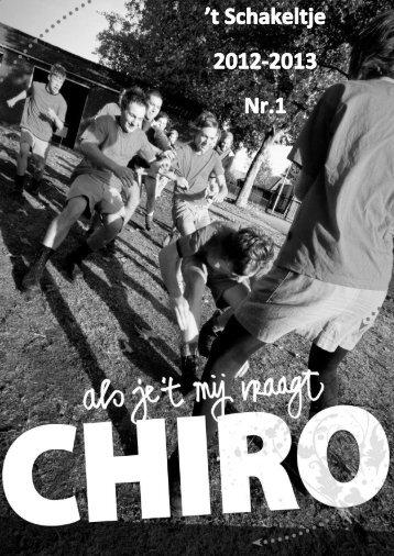 Het schakeltje November - Chiro Meerle