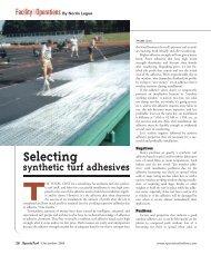 synthetic turf adhesives Selecting