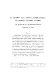 An Incentive based View on the Distribution of Consumer ... - NHH