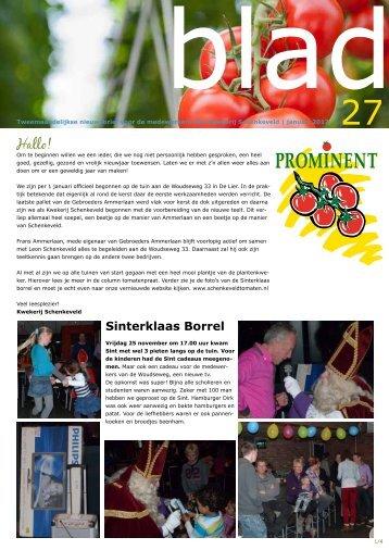 Sinterklaas Borrel - Kwekerij Schenkeveld