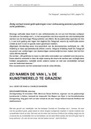 ZO NAMEN DE VAN L.'s DE KUNSTWERELD TE ... - Johan Meijering