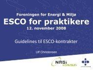 Guidelines til ESCO - Energiforum Danmark