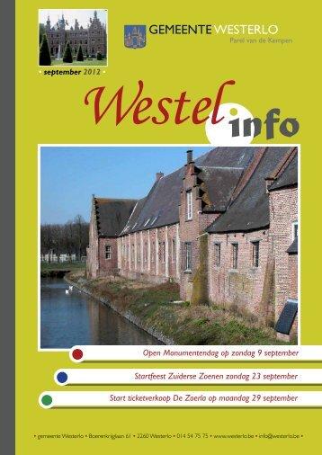 september 2012 - Gemeente Westerlo