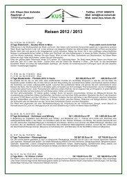 Reisen 2012 / 2013 - KUS Reisen