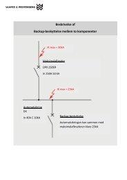 Beskrivelse af Backup-beskyttelse mellem to komponenter