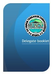 Delegate Booklet (PDF) - MUNOL