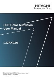 LCD Color Television User Manual L32AX03A - Furniture Rental ...
