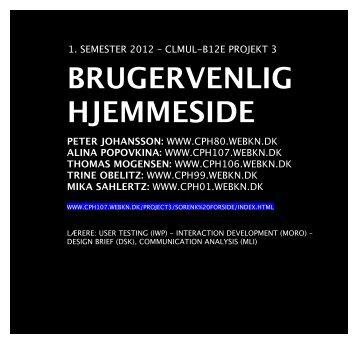 BRUGERVENLIG HJEMMESIDE - VON