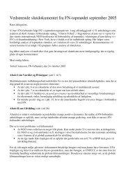 Vedrørende slutdokumentet fra FN-topmødet ... - FN-forbundet