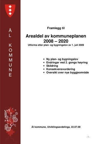 Ny skildring av planen - Ål kommune