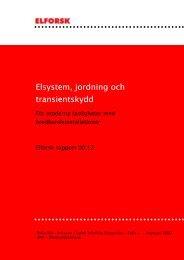Elsystem, jordning och transientskydd - Om UPN