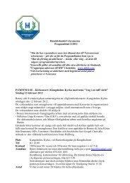 HandelsbanksVeteranerna Programblad 2/2012 *Om du har e ...