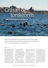 Gråsæl og torskeorm - Aktuel Naturvidenskab