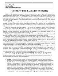 CONSENT FOR FACELIFT SURGERY - Denver Plastic Surgery