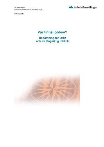 Var finns jobben? - Region Gävleborg