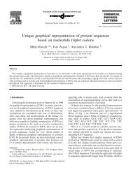 Unique graphical representation of protein sequences based on ...