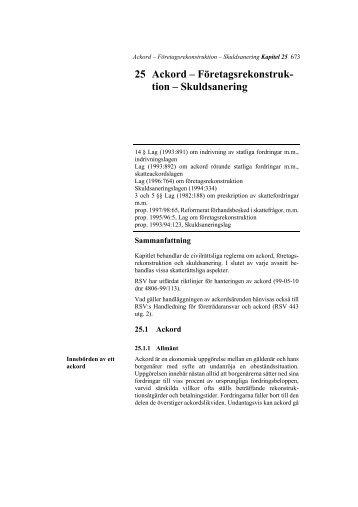 Företagsrekonstruktion – Skuldsanering - Skatteverket