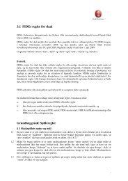 FIDEs regler for skak - DSU 2. hovedkreds