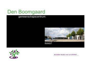 Gemeenschapscentrum 'Den Boomgaard'