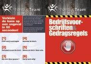 Veiligheidsvoorschriften - Fonti's Team