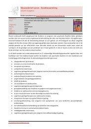 Protocollaire behandelingen voor kinderen met psychische klachten ...