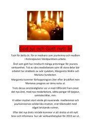 God jul och Gott nytt år - Kvinnojouren Vändpunkten