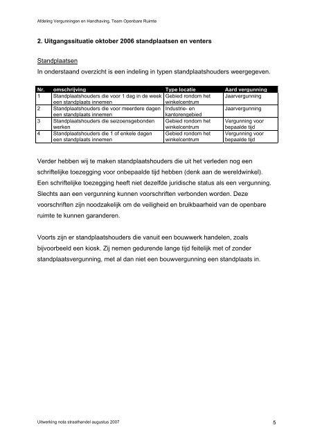 Beleidsregels voor het innemen van standplaatsen en venten in de ...