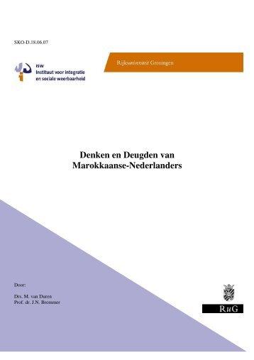 Denken en Deugden van Marokkaanse-Nederlanders - Instituut ISW