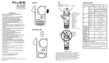 Fluke 321 and 322 digital clamp meter user manual
