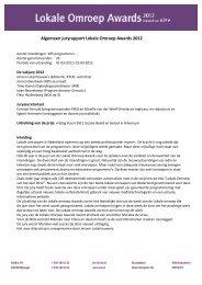 Algemeen juryrapport LOA 2012 - Olon