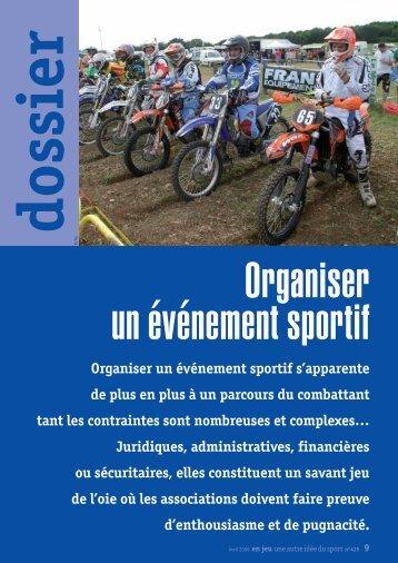 Organiser un événement sportif s'apparente de plus en plus ... - Ufolep