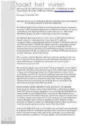 Persbericht 2011 Stichting 'Staakt het Vuren' - Johan Meijering