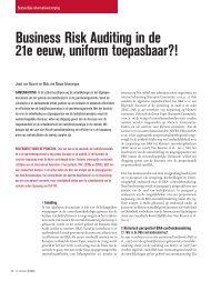 2011 Business Risk Auditing in de MKB jaarrekeningcontrole - V&A