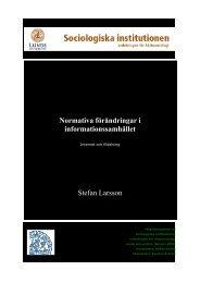 Normativa förändringar i informationssamhället ... - Solidaritetshuset