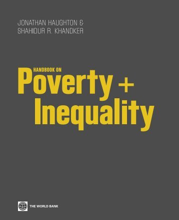 Handbook on Poverty and Inequality - ISBN: 9780821376133