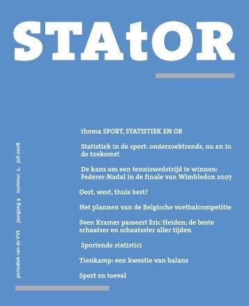 thema SPORT, STATISTIEK EN OR Statistiek in de sport ...