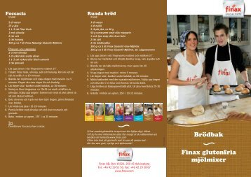 Brödbak Finax glutenfria mjölmixer